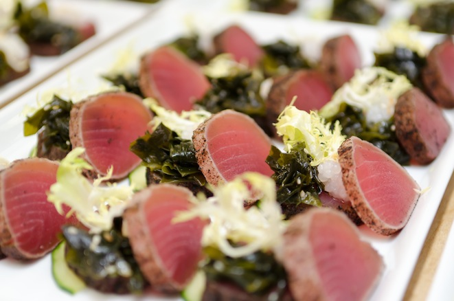 Big-Eye Tuna Tataki with Wakame Seaweed and Young Ginger–Soy Dressing