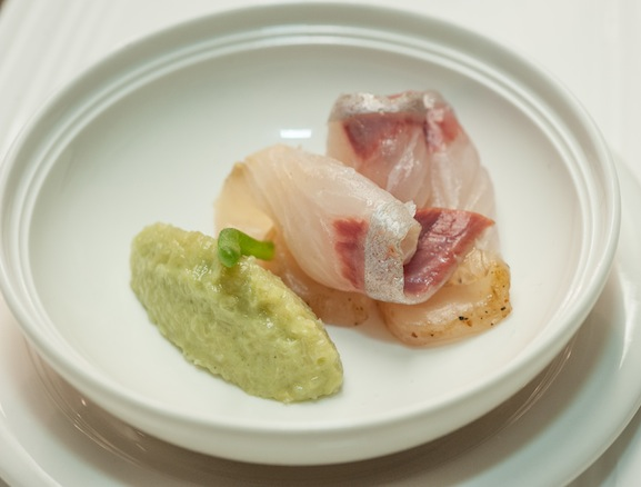 Amberjack with Bamboo, Kinome, and Preserved Lemon