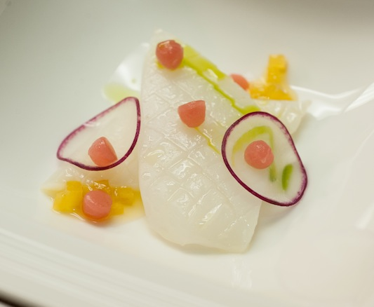 Bigfin Squid with Citrus, Basil, and Bonito