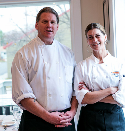 Chef/Co-Owners Jennifer Blakeslee and Eric Patterson