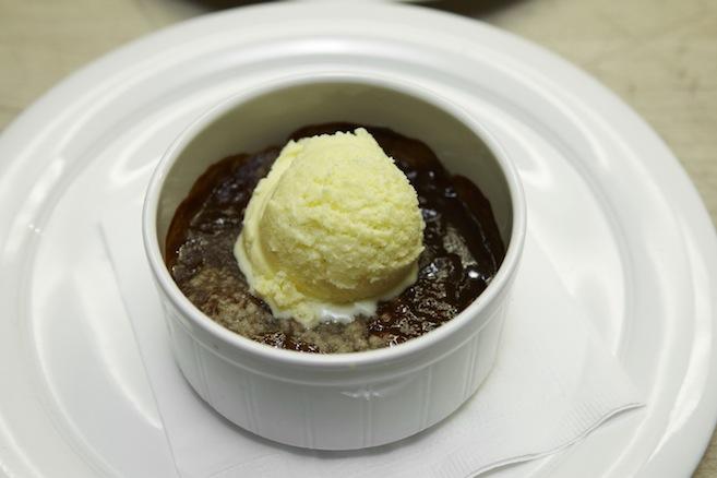 Ruston Peach Cobbler with Shortbread Crumble and Buttermilk Ice Cream