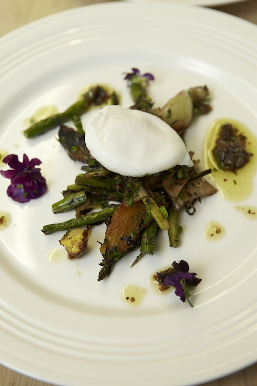 City'n Country > We Are All What We Eat Farms Egg and Grilled Union Square Market Vegetables with Truffle, Garlic, and Anchovy Vinaigrette