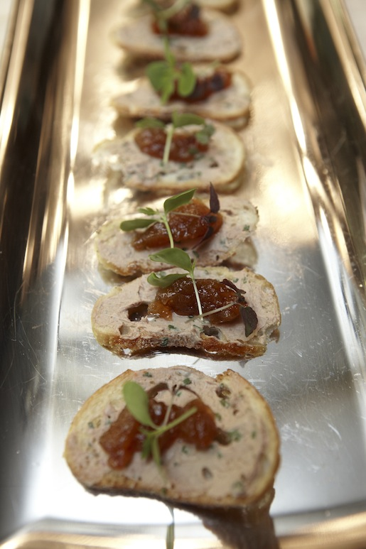 Chicken Liver Pâté Crostini with Spiced Apple Chutney