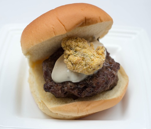 Island Creek Burgers > Fried Oysters with Tartar Sauce on Flour Bakery Burger Buns