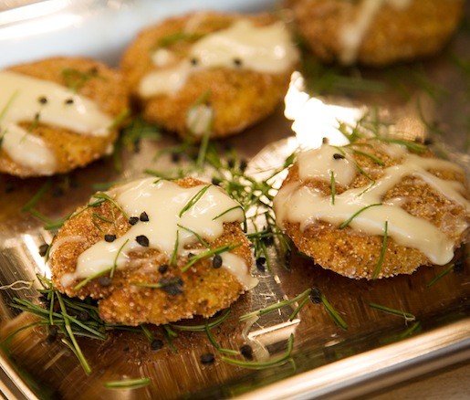 Iron Skillet–Fried Green Tomatoes with Farmhouse Cheese