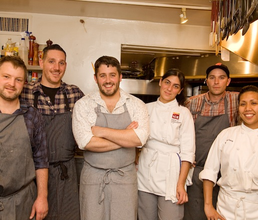 Will Gilson and his team at the James Beard House