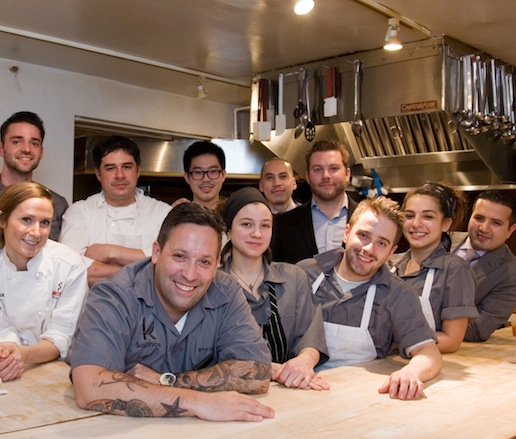 Mike Isabella and his team at the James Beard House