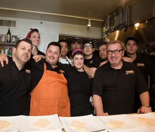 Chad Gauss, Melanie Molinaro, Sajin Renae and their team at the Beard House