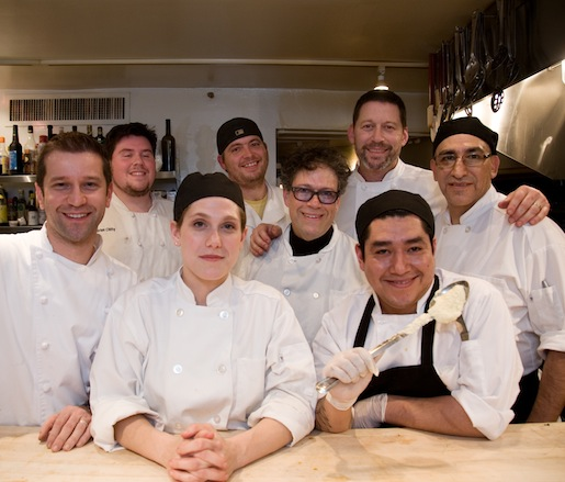Larry Kolar and his team in the James Beard house