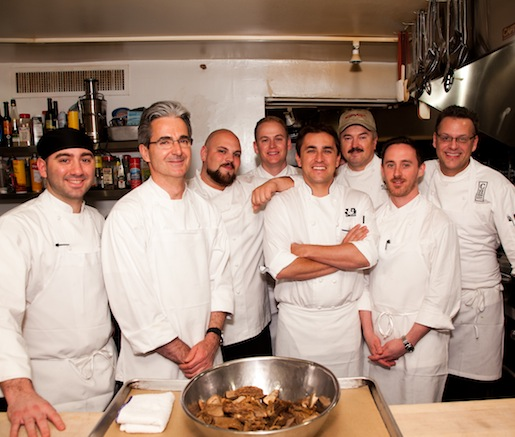 Garrison Price, Brian Anderson, Maycoll Calderon, David Gross, Jacques Qualin, Philippe Reininger, and Anthony Ricco at the James Beard House