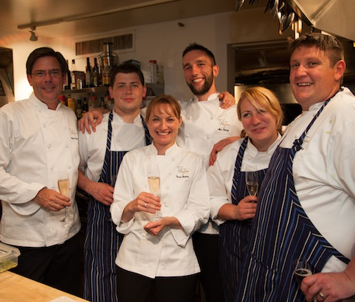 Mark Berkner and James Ablett with their team at the Beard House