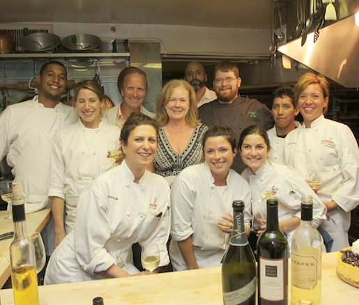 Chef Jon Vaast and his team in the Beard House kitchen