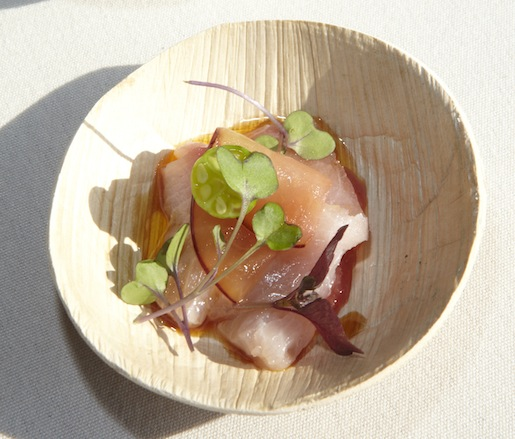 Hamachi with Pickled Plums and Scallions by Hayan Yi (Corkbuzz)