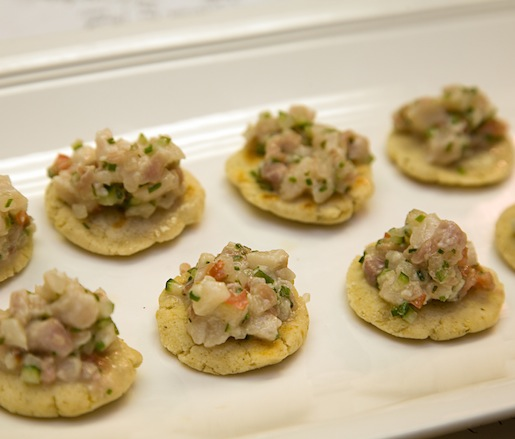 Nat's Spanish-Inspired Hamachi Ceviche with Grilled Tostadas