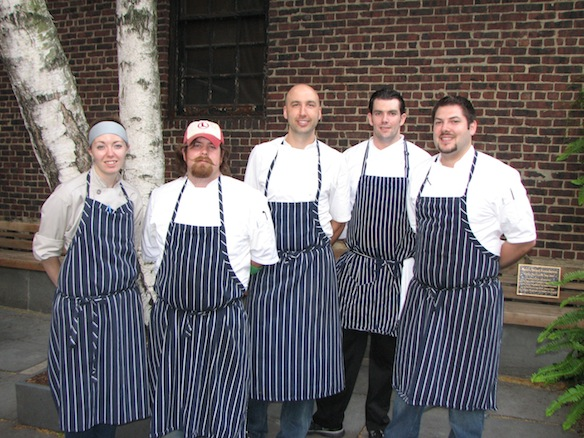 Chef John Griffiths and his team