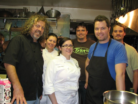 Chefs Jack and Bryce Gilmore with their team in the Beard House kitchen