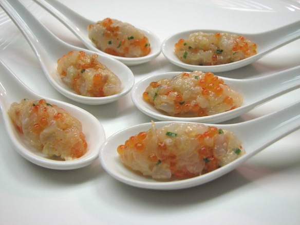 Scottish Langoustine Tartare with Trout Caviar