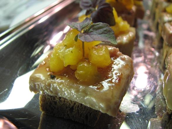 Foie Gras Terrine Brûlée with Maui Cane Sugar, Hali'imaile Pineapple, and Hawaiian Chilies