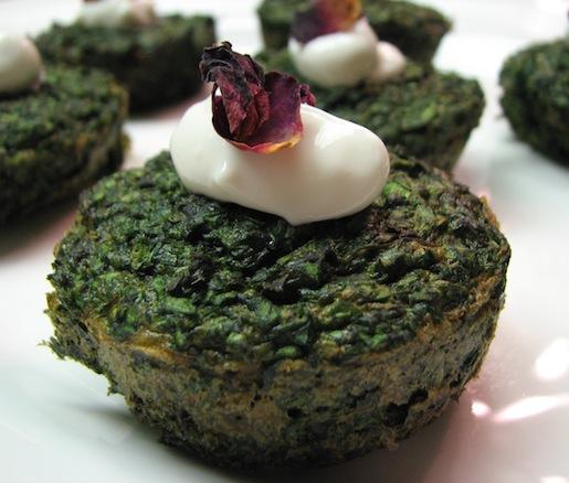 Kuku Sabzi > Green Herb Soufflés