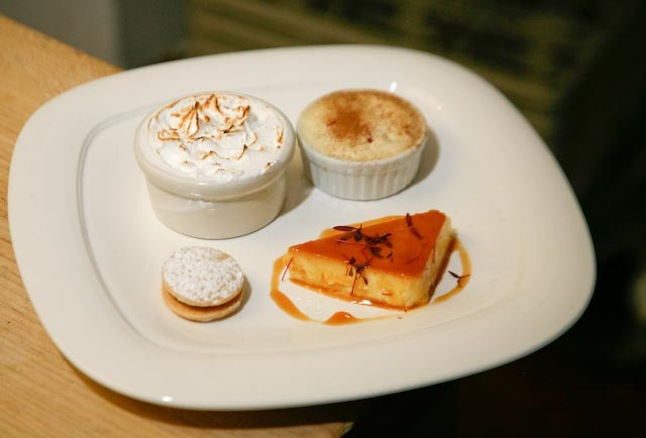 Assorted Signature Tastes > Tres Leches, Chocolate and Dulce de Leche Alfajores, Sweet Corn Flan, and Pio X