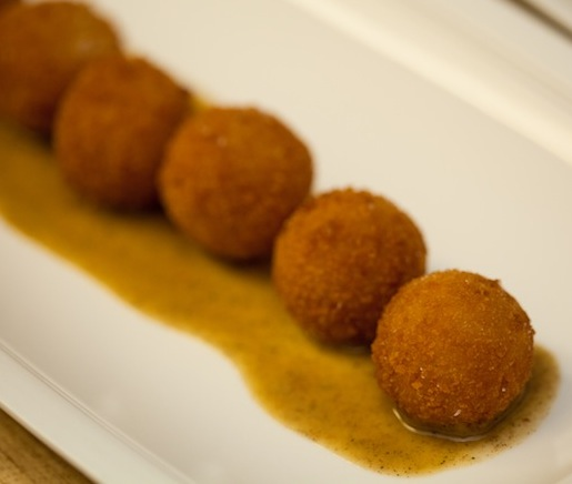 Mighty Food Farm Squash Arancini with Walnut and Sage Purée