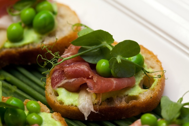 Spring Peas and Prosciutto