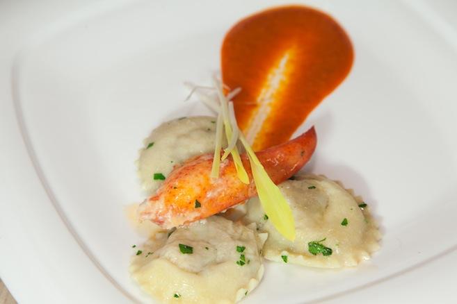 Truffle-Infused Newfoundland Lobster–Oyster Mushroom Ravioli