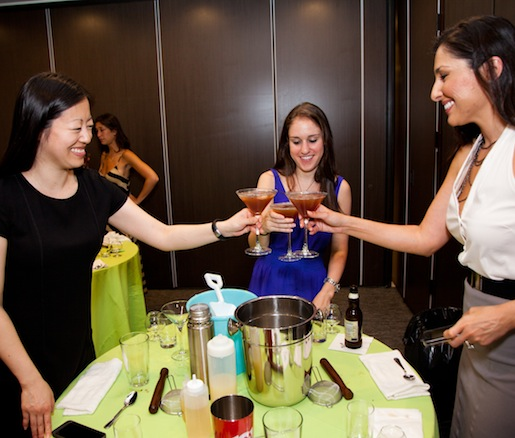 James Beard Greens toasting with their creations