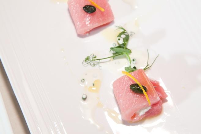 Tuna Involtini with Burrata and Pistachios