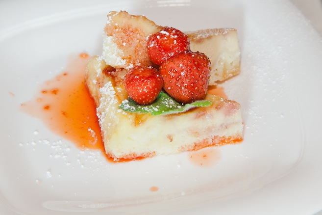 Strawberry Clafoutis > Baked Custard Tart with Barolo Vinegar–Macerated Strawberries