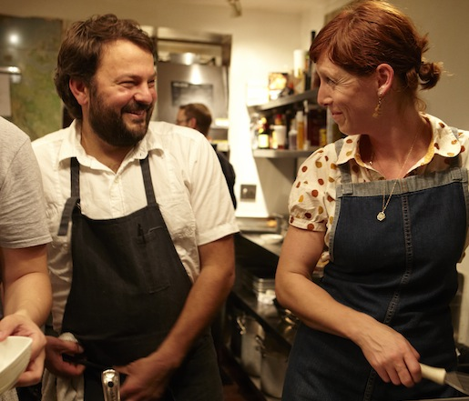 Nicole Krasinski and Stuart Brioza at the James Beard House