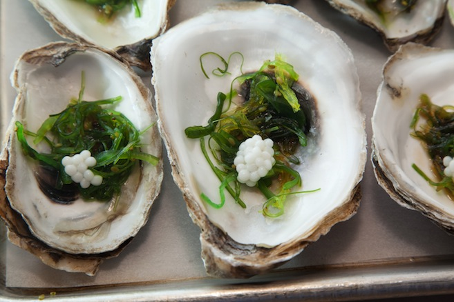 Connecticut Blue Point Oysters and Pearls