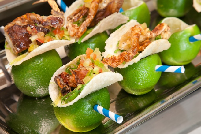 Softshell Crab Tacos and Miniature Key Lime Margaritas