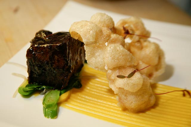 Black Pepper–Glazed Certified Angus Beef® Short Ribs with Butternut Squash Purée and Chinese Broccoli