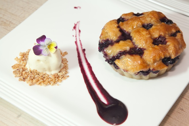 Brandie's Original Blueberry Pie with Salt-Churned Honey and Lemon Thyme–Honey Ice Cream