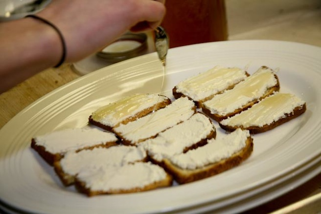 Sunflower Toasts with Housemade Ricotta and Clover Honey