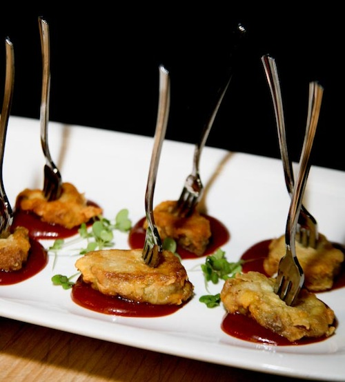 Foie Gras Fritters with Cherry Butter
