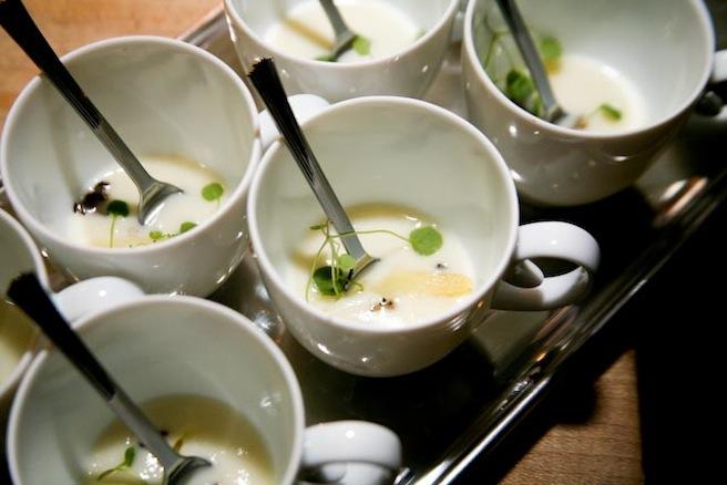 White Asparagus–Black Truffle Soup