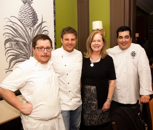 Chef Jose Garces with JBF president Susan Ungaro and members of his team