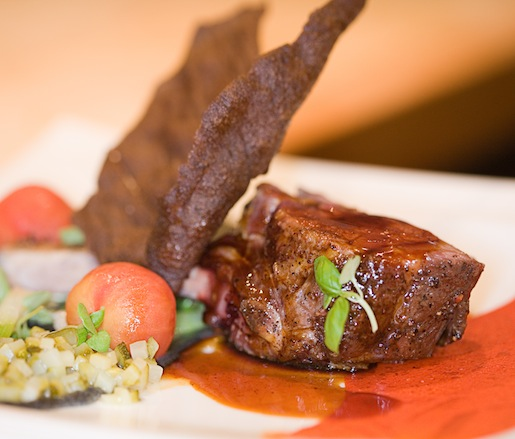 Roasted Lamb Loin with Ratatouille Flavors