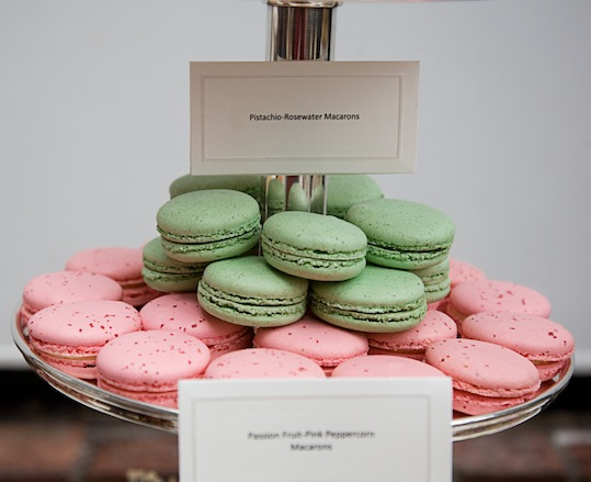 Macarons > Passion Fruit–Pink Peppercorn and Pistachio–Rose Water