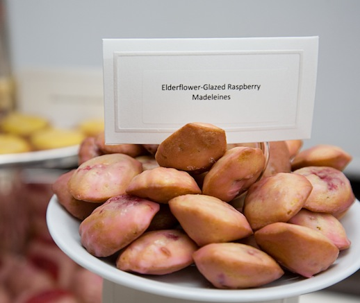 Madeleines > Elderflower-Glazed Raspberry