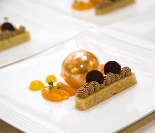 Future > Flavors of Mandarin: Mandarin Mousse with Lemon Sponge Cake and Milk Chocolate