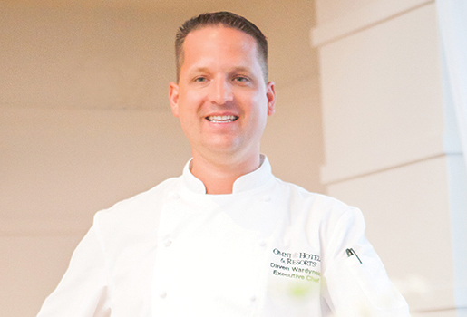 Host Chef Daven Wardynski