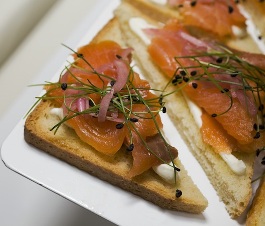 Open-Faced Smoked Salmon Tartines
