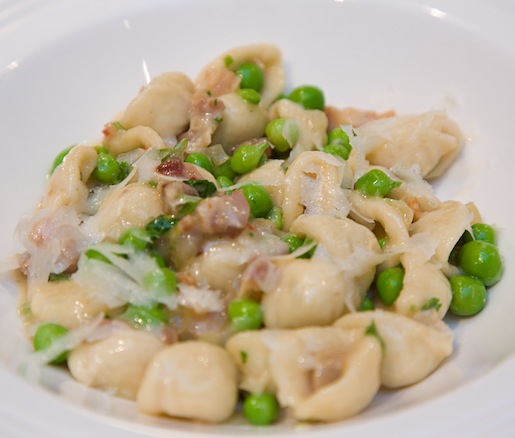 Orecchiette with Peas and Pancetta