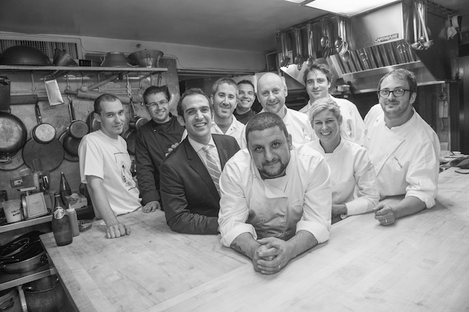 The chefs in the Beard House kitchen