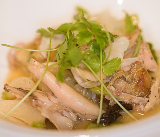Milk-Braised Rabbit with Morels and Gnocchi