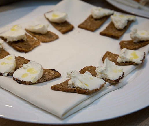 Housemade Ricotta with Hearty Bread Crackers