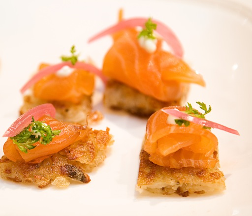 House-Cured Salmon on Latkes